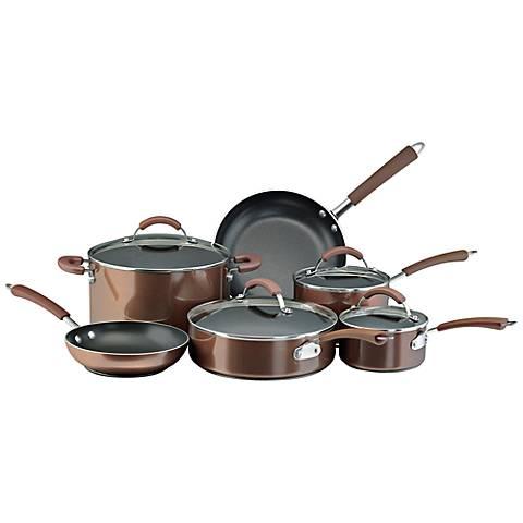 Farberware Millennium Bronze Porcelain 12-Pc Cookware Set