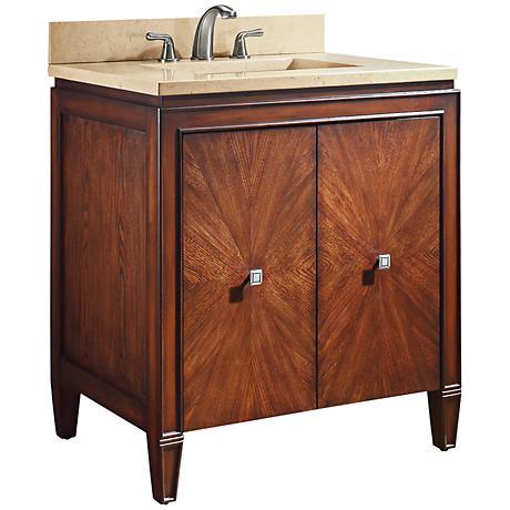 """Avanity Brentwood 31"""" Beige Marble Sink Vanity"""