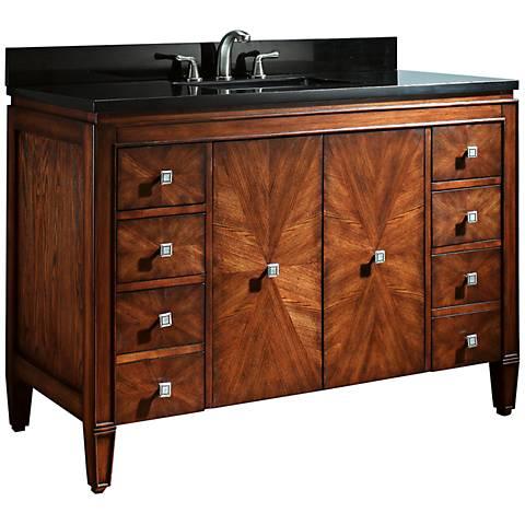 """Avanity Brentwood 49"""" Black Granite Sink Vanity"""