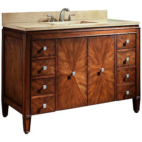 """Avanity Brentwood 49"""" Beige Marble Sink Vanity"""