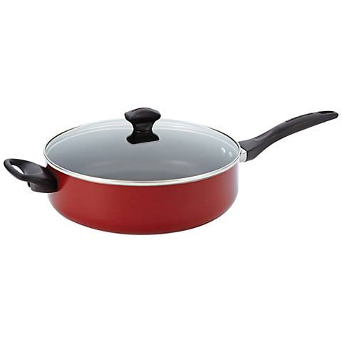 Farberware Red 5-Quart Jumbo Cooker with Helper Handle