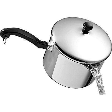 Farberware 3-Quart Straining Saucepan with Pour Spouts