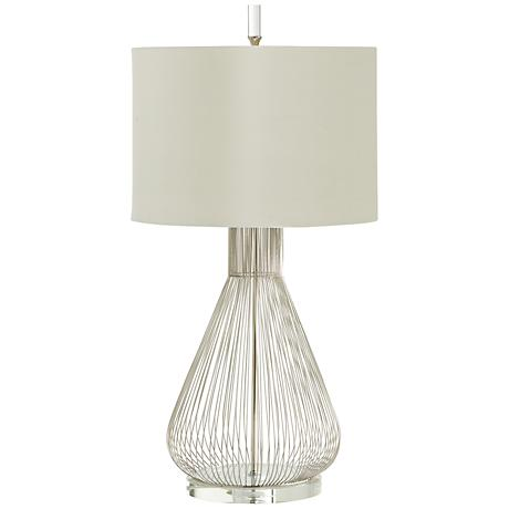 whisked fall iron and crystal modern table lamp 3r319. Black Bedroom Furniture Sets. Home Design Ideas