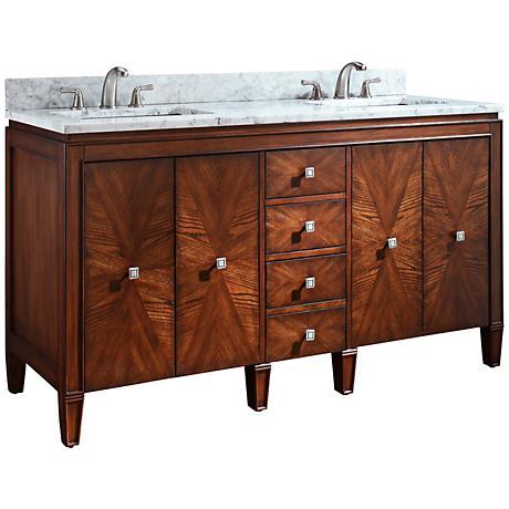 """Avanity Brentwood 61"""" White Marble Dual Sink Vanity"""