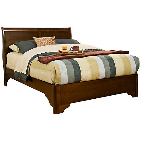 Chesapeake Cappuccino Sleigh Bed