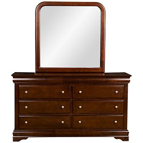 Chesapeake 6-Drawer Cappuccino Dresser