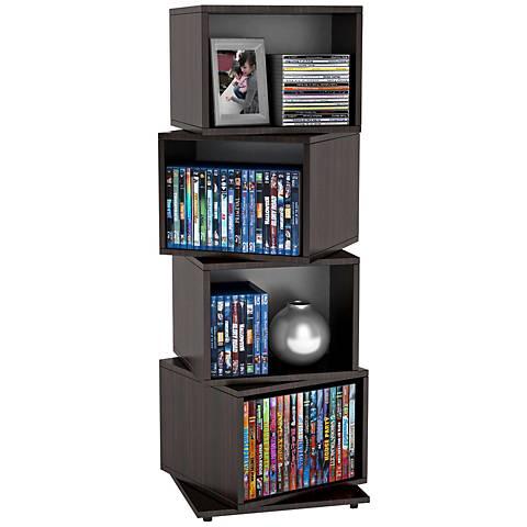 Rotating Cube Espresso Disc Storage Tower