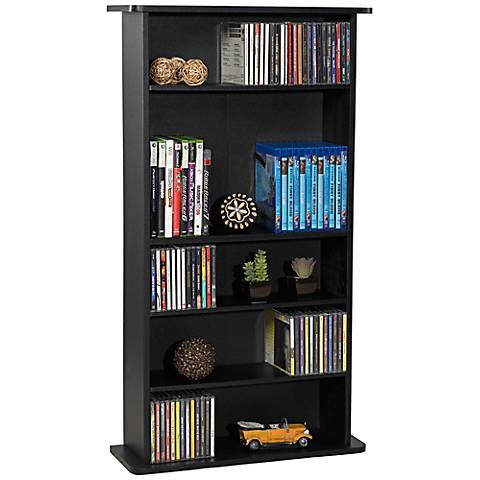 Drawbridge Black Media Storage Cabinet