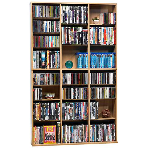 Oskar Maple 756 CD Media Storage Cabinet