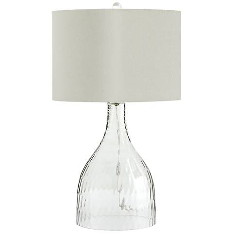Big Dipper Clear Glass Large Modern Table Lamp