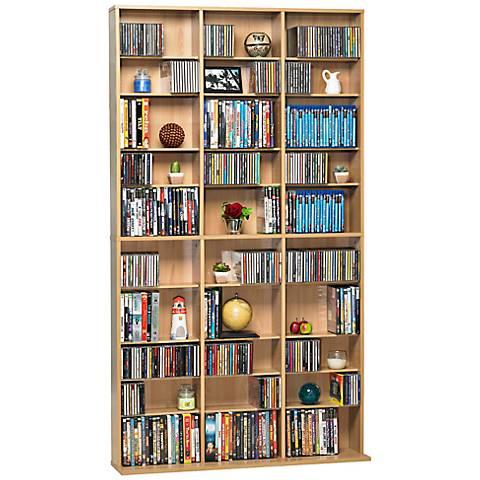 Oskar Maple 1080 CD Media Storage Cabinet