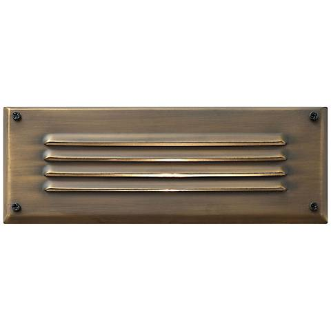 Hinkley Hardy Island Bronze Outdoor Louvered Brick Light