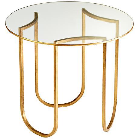 Vincente Gold Leaf Side Table