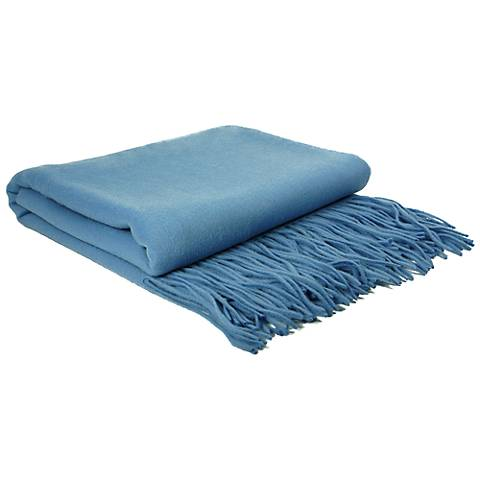 Azure Signature Cashmere Blend Waterwave Throw Blanket