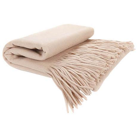 Eco Signature Cashmere Blend Waterwave Throw Blanket