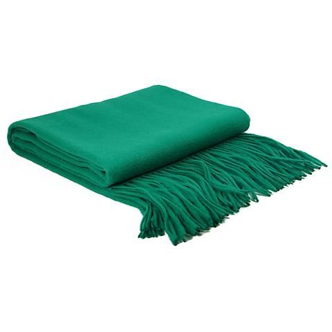 Emerald Signature Cashmere Blend Waterwave Throw Blanket