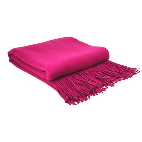 Magenta Signature Cashmere Blend Waterwave Throw Blanket