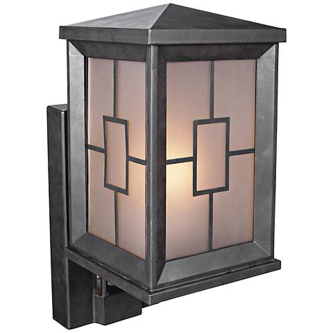 "Motion Sensor Outdoor Wall Lights: Carriage Bronze 12 1/2"" High Motion Sensor Security Light,Lighting"