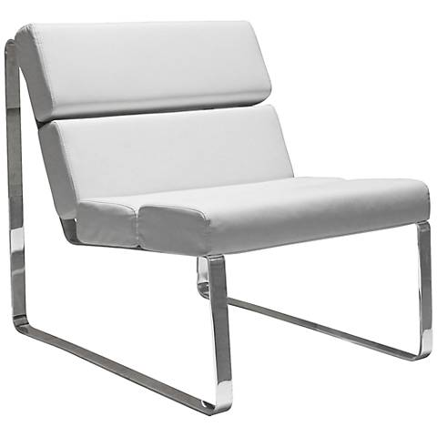Angel White Leatherette Chair