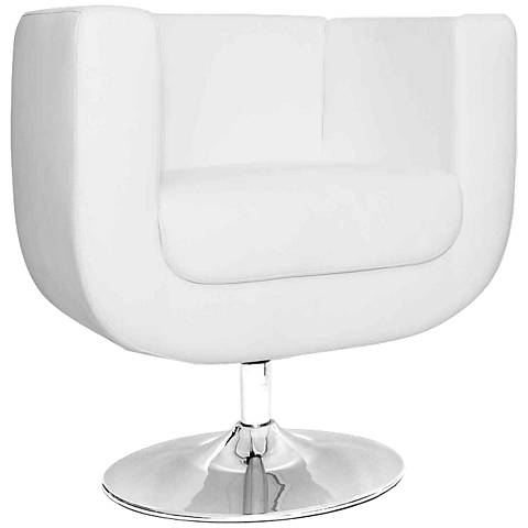 Bliss White Leatherette Chair