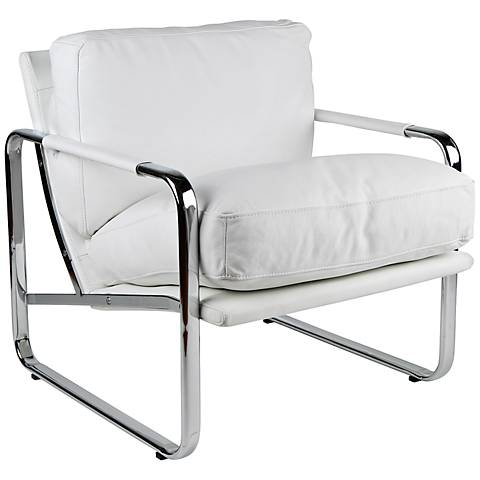 Magi White Leather Chair