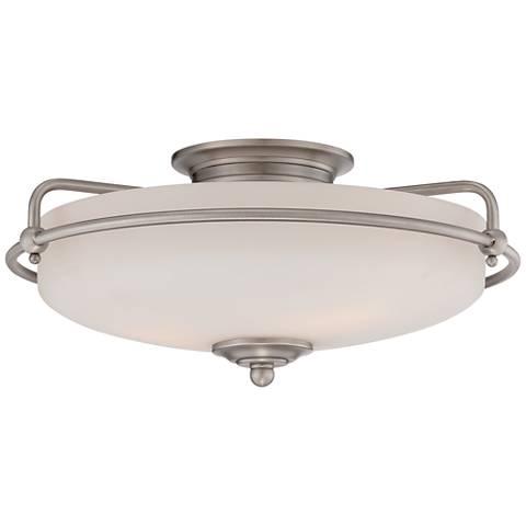 Quoizel Griffin Large Nickel Floating Ceiling Light