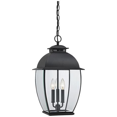 "Quoizel Bain Mystic Black 20 1/2""H Outdoor Hanging Lantern"