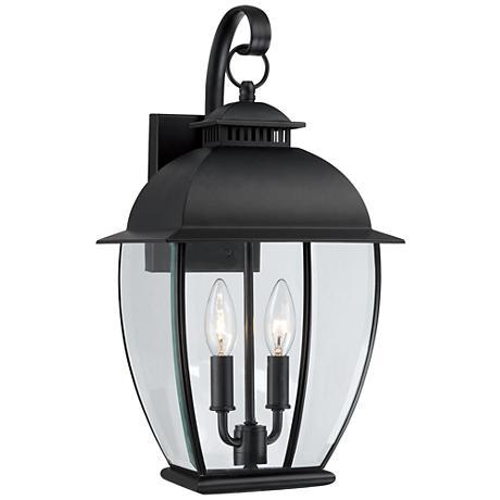 Quoizel Bain Mystic Black Medium Outdoor Wall Lantern