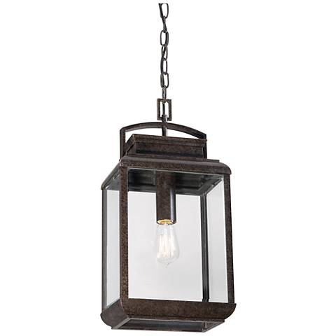 "Quoizel Byron Imperial 20""H Bronze Outdoor Hanging Lantern"