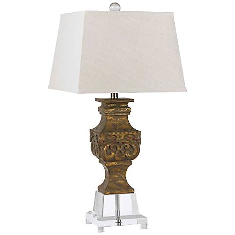 Pierson Antique Gold and Crystal Table Lamp