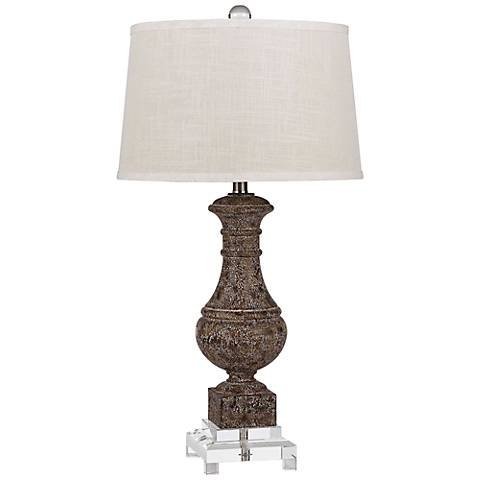 Apopka Sable and Crystal Table Lamp