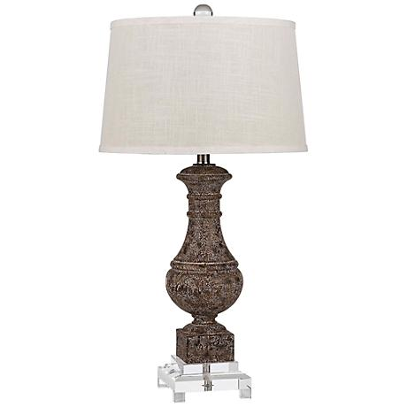 apopka sable and crystal table lamp 3t150 lamps plus. Black Bedroom Furniture Sets. Home Design Ideas