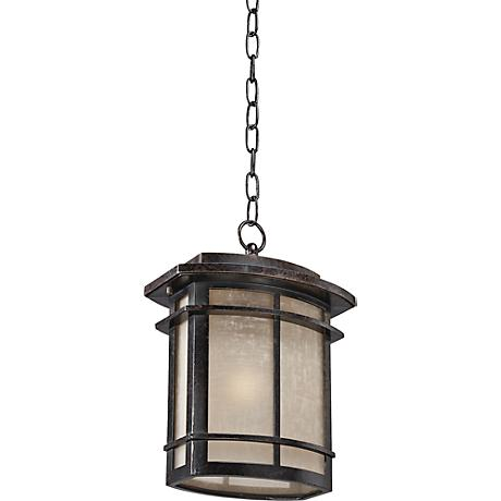 "Quoizel Galen Bronze Large 13 1/2""H Outdoor Hanging Lantern"