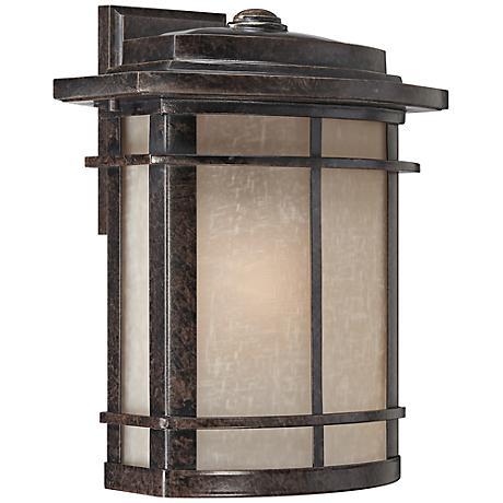 """Quoizel Galen Bronze 14"""" High Outdoor Wall Lantern"""