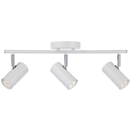 galena 3 light white led track fixture 3t189 lamps plus. Black Bedroom Furniture Sets. Home Design Ideas
