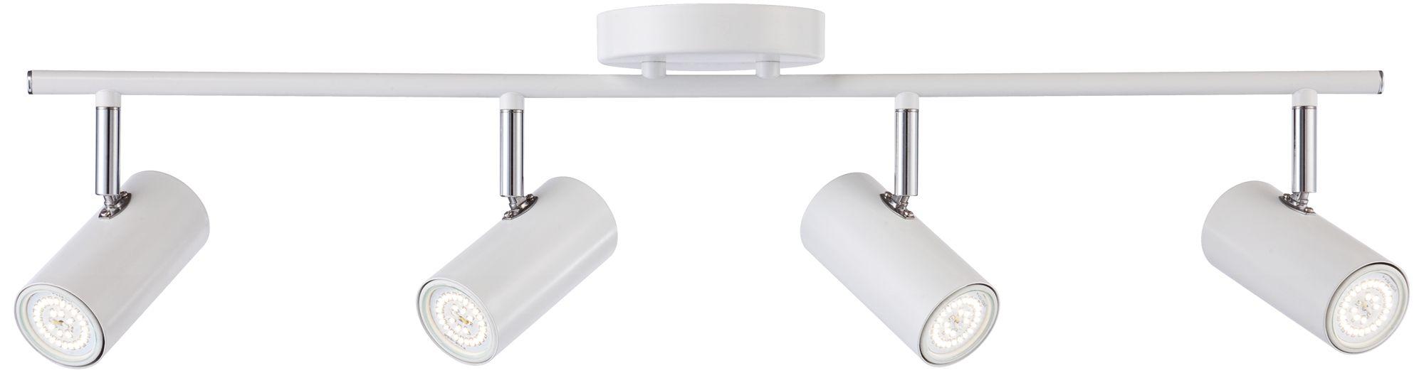 galena 4light matte white led track fixture