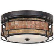 "Quoizel Laguna 12"" Wide Renaissance Copper Ceiling Light"