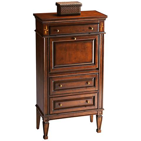 Madison Plantation Cherry Secretary Cabinet