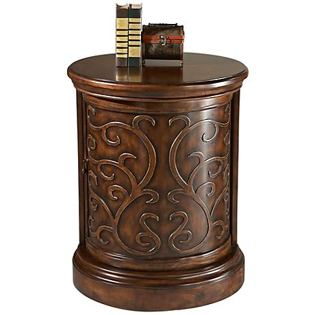 Heritage Maple Veneered Drum Table