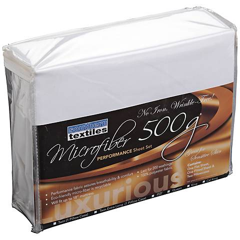 Microfiber 500 gm White Sheet Set