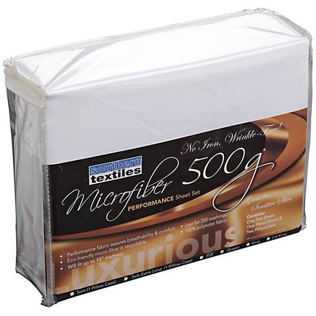 Microfiber 500 gm White Sheet Set