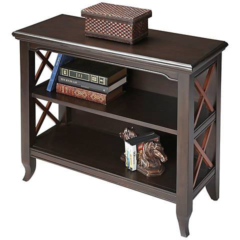 Butler Loft Newport Black and Cherry Low Bookcase