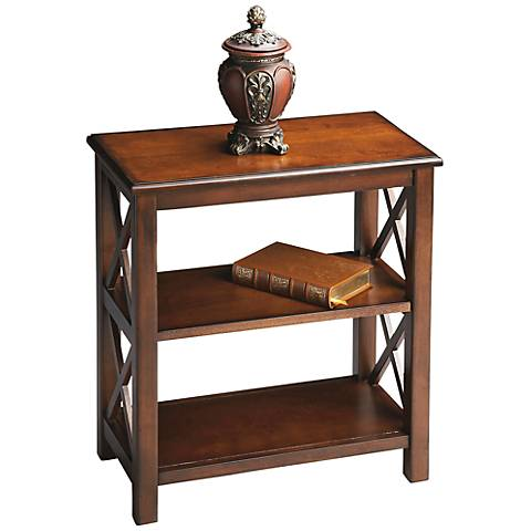 Open Side Plantation Cherry Bookcase
