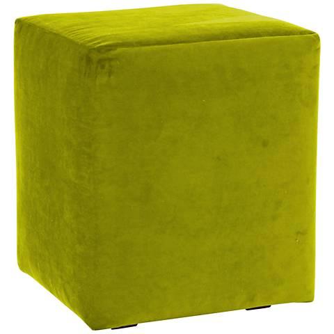 Howard Elliott Mojo Kiwi Universal Cube Ottoman