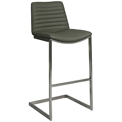 "Impacterra Buxton 26"" High Faux Leather Gray Barstool"
