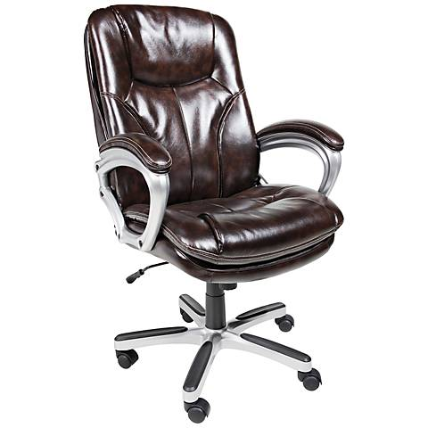 Serta Roasted Chestnut Executive Big and Tall Office Chair