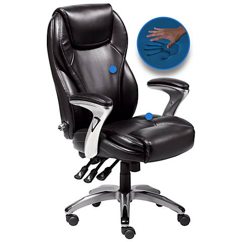 Serta Black Bonded Leather Ergo-Executive Office Chair