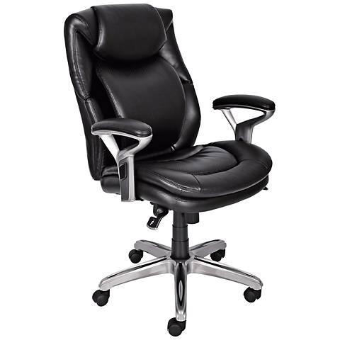 Serta AIR Smooth Black Mid-Back Office Chair