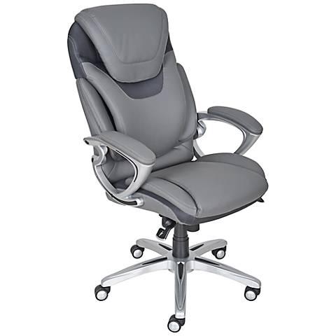 Serta AIR Light Grey Executive Office Chair