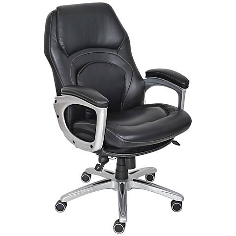 Serta Back in Motion Smooth Black Executive Office Chair